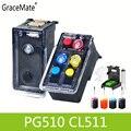 PG510 CL511 cartucho de tinta rellenable de reemplazo para Canon PG 510 CL 511 Pixma MP240 MP250 MP260 MP270 MP280 MP480 MP490 IP2700
