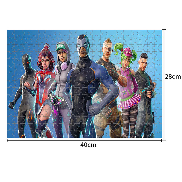 Fortniteing Game Puzzles Toys 300 Pieces Anime Figures Assembling Puzzle Children Educational Puzzles Toys for Boys Girls Gifts 4