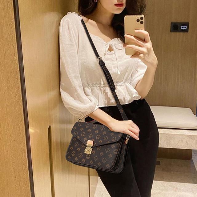Famous Brand Designer Shoulder Bag For Women Vintage Printing Crossbody Bags High Quality Women's Designer Luxury Handbag Female 1