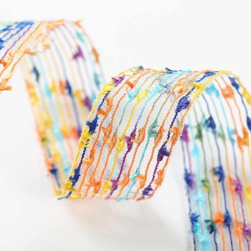 شريطة من الدانتيل الشريط 27 مللي متر شرابة زينة ملونة الدانتيل النسيج لتقوم بها بنفسك الحرف اليدوية المطرزة صافي الحبل للخياطة الملابس الديكور 1 ياردة