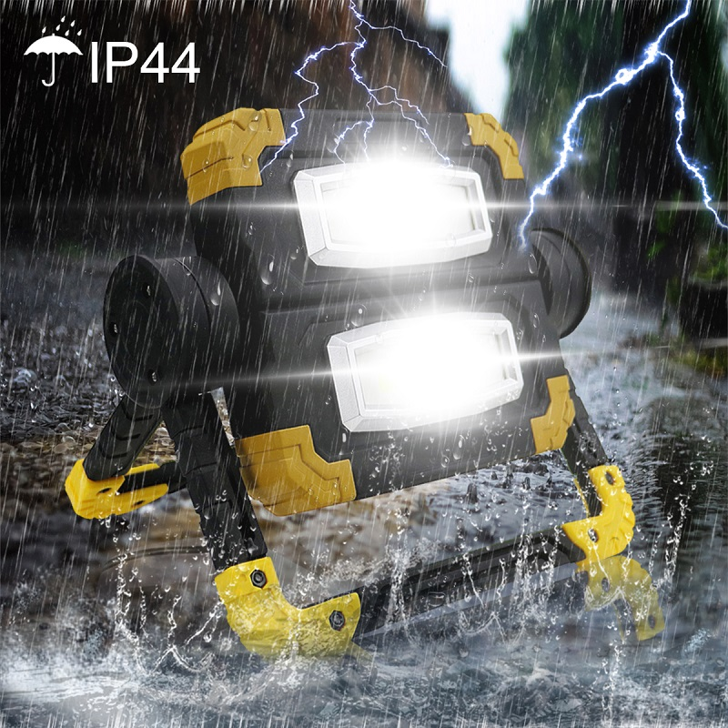 Portable LED Searchlight  3 Modes Spotlight Waterproof Led 150W Work Light Use 4*AA Battery USB Rechargeable For Hunting Camping