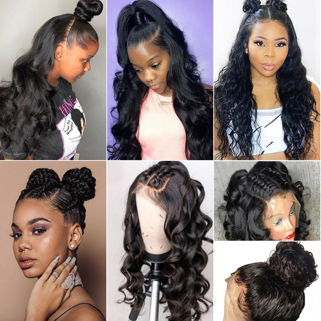 Body Wave 360 Lace Frontal Wig 13x6 Lace Front Human Hair Wigs Brazilian Remy Lace Wig Pre Plucked With Baby Hair RUIYU 2
