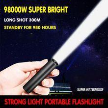 USB Strong Light Portable LED Flashlight Camping Light Adjus