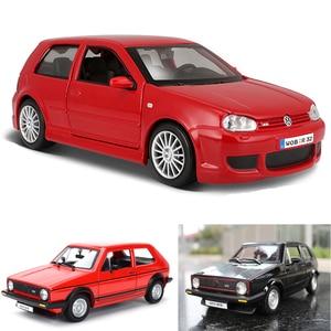 1:24 Limited edition collection of Zinc Alloy Bus VW Golf MK1 GTI 1977 & Golf R32 simulation alloy car model Toys