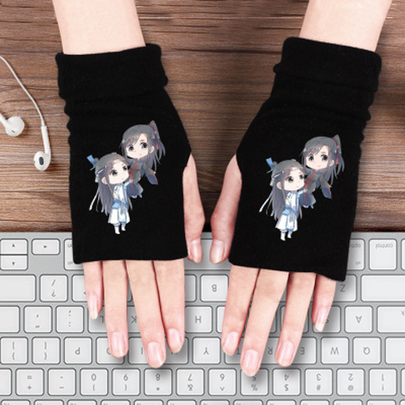 Grandmaster Of Demonic Cultivation Gloves Lan Wangji Wei Wuxian Scarf Demon Slayer Tanjirou Nezuko Cartoon Anime Mouth Muffle