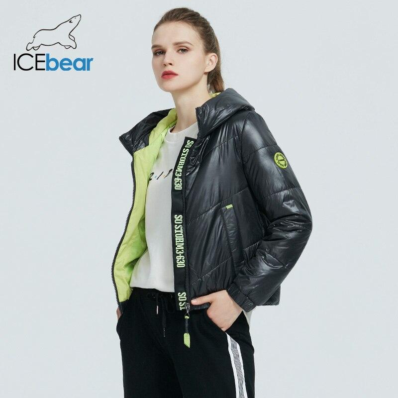 ICEbear 2020 chaqueta de primavera para mujer, parka de moda para mujer, ropa de marca con capucha de alta calidad GWC20067I