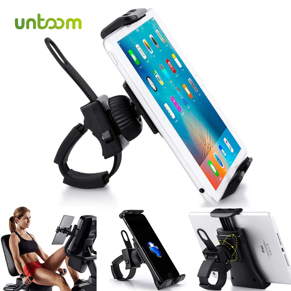 Untoom Universal Handlebar Mount For IPad Tablet Phone Holder Stand For Indoor Gym Tread Mill For 3.5 To 12 Inch Mobile Devices