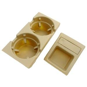 Image 3 - Para bmw e46 3 séries 1999 2006 preto, dupla buraco, veículo, frente, console, caixa de armazenamento moeda + suporte de copo da bebida 51168217957