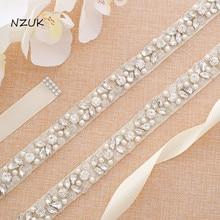Beading Bridal Sash Crystal And Rhinestone Wedding Belt For Wedding Gown Handmade Wedding Accessories Y134S