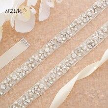 Cinturón de boda con abalorios de cristal y diamantes de imitación para vestido de novia, accesorios de boda hechos a mano Y134S