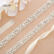 Frezowanie dla nowożeńców Sash kryształ i Rhinestone pas ślubny dla suknia ślubna ślubne ręcznie robione akcesoria Y134S