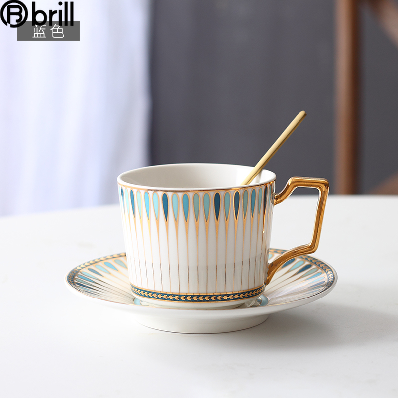 Breakfast White Gold Coffee Mug Vintage Ceramic Cute Small Mugs Coffee Cups Turkish Ceramic Coffee Cup and Saucer Set Travel