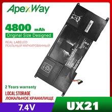 4800 mah 7.4 v C23 UX21 c23ux21 bateria do portátil para asus zenbook ux21 ux21a ux21e ultrabook series