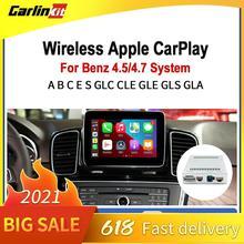 CarlinKit 2.0 מפענח אלחוטי Apple רכב לשחק אנדרואיד אוטומטי עבור מרצדס בנץ NTG 4.5/4.7 מולטימדיה מוסיקה חכם רכב retrofit תיבה
