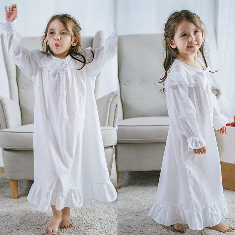 Baby Girl Clothes Princess Nightgown Long Sleeve Sleep Shirts Nightshirts Pajamas Christmas Dress Sleepwear kids for 3-12 Years (7)