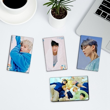 New 10 Pcs/set KPOP MONSTA X Album Photo Card PVC Crystal Card Sticker Self Made LOMO Card Photocard 18pcs set kpop mamamoo reality in black album melting photo version for student card bus pvc crystal card