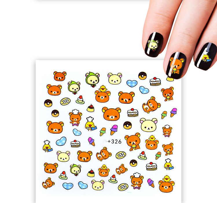 LOLEDE Baby Elephant piedra de dibujos animados Diamante de imitación pequeñas cuentas irregulares decoración de uñas de manicura en accesorios de rueda 005