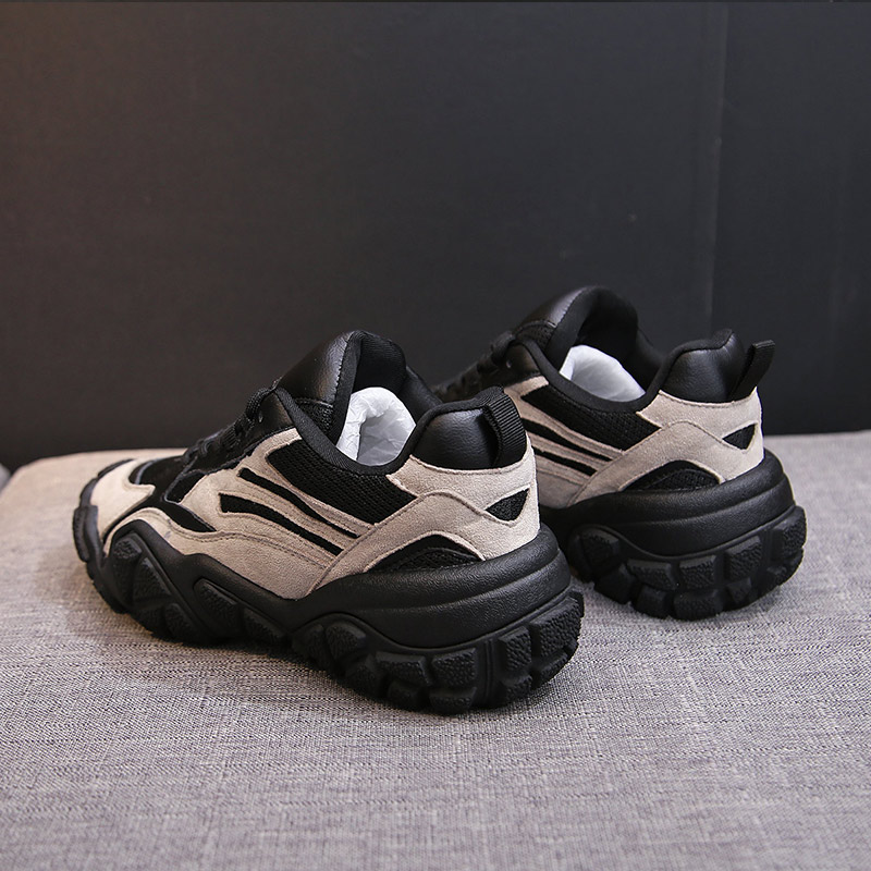 Fashion Sneaker Designer 5.5cm Thick Sole Lady Casual Vulcanize Shoes Women Chunky Sneakers Platform Lace Up Dad Female Harajuku