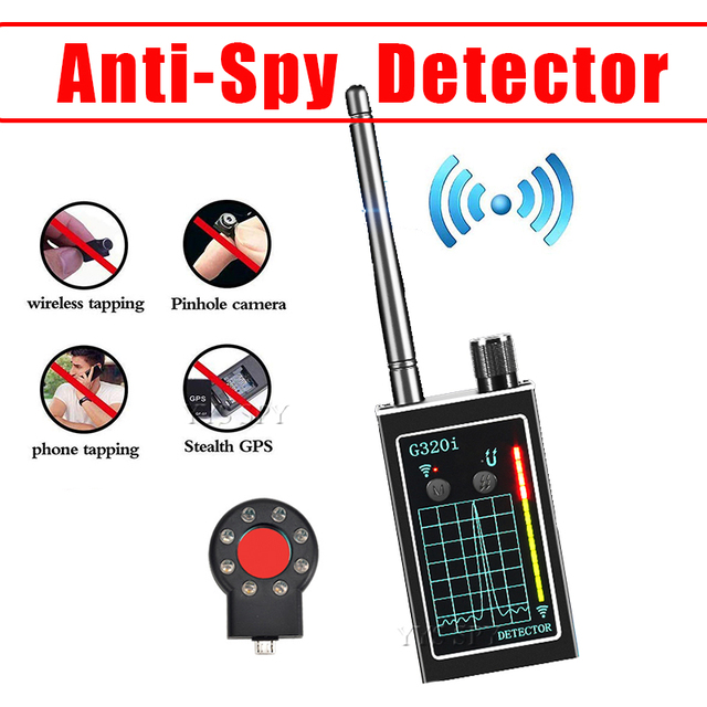 Anti-Spy Detector Mini WiFi Hidden Camera GSM Audio Bug GPS Tracker RF Signal Wireless Micro Cam Magnetic Device Gadgets Finder