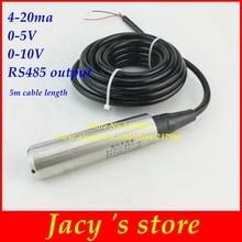 Liquid-Level-Sensor Integrate-Level-Transmitter Rs485-Output 0-10V 4-20ma 0-5V 12-24VDC