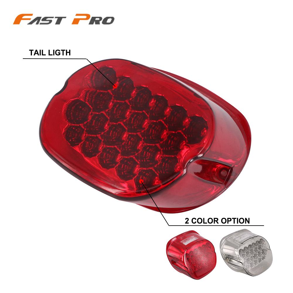 Motorycle Red Smoke LED Tail Light Lamp For Harley XL FLH FX FXR FXSTB Softail Sportster Road King Dyna Heritage Fatboy 2017