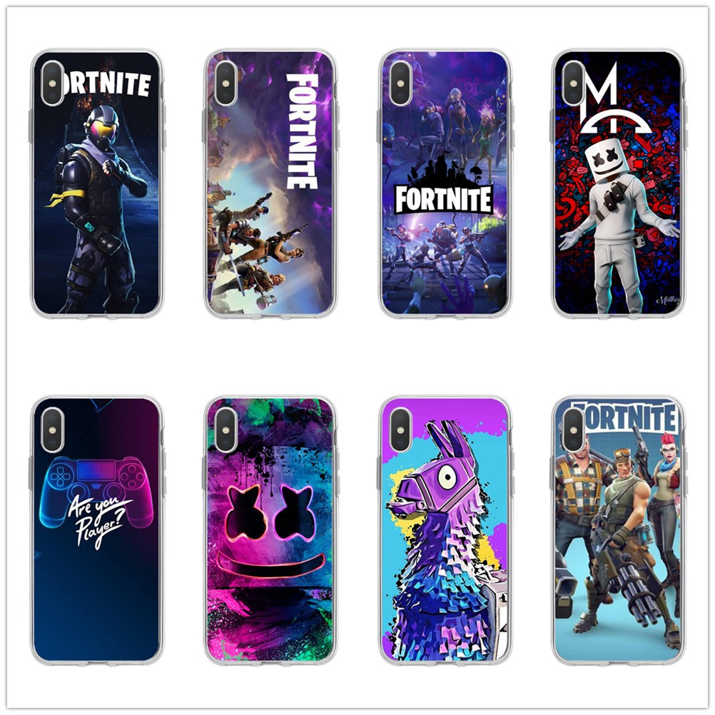 Original Fortnites Phone Cases Cartoon Game Painted Mobile Phone Cases for IPhone 11 Pro XS 8 7 6 Plus Silicone Soft Shell Cover 1