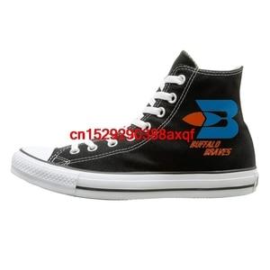 Buffalo Braves 70's Basketball Retro Team Logo High-top Canvas Shoes for Men Women
