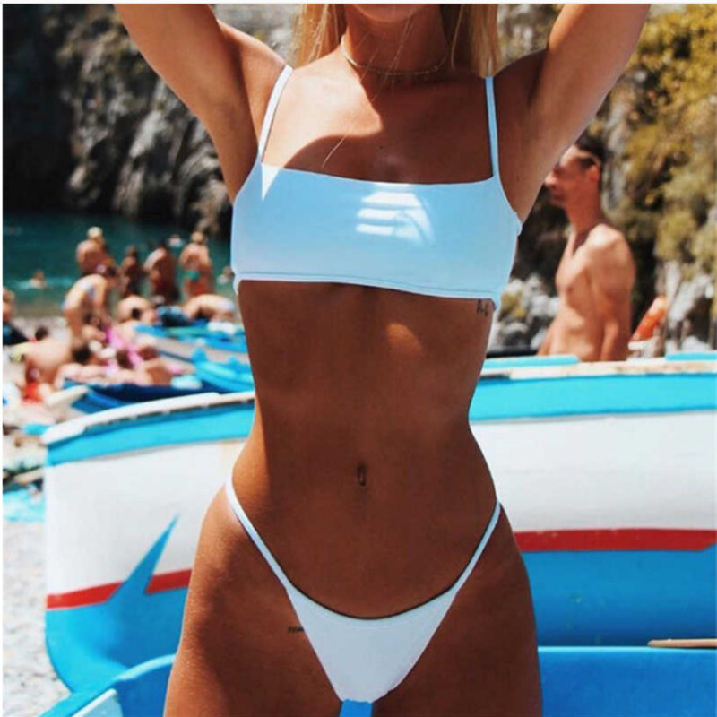 Summer 2020 Beach Ladies Swimming Suit Sexy Bra Bikini 2 Piece Set Swimwear Beachwear Swim Suit Female Swimsuit