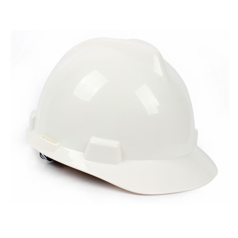 MSA 10167025PE Standard Ultra-Aidai PVC Sweat Absorbing D Type Of Mandible With White Safety Helmet
