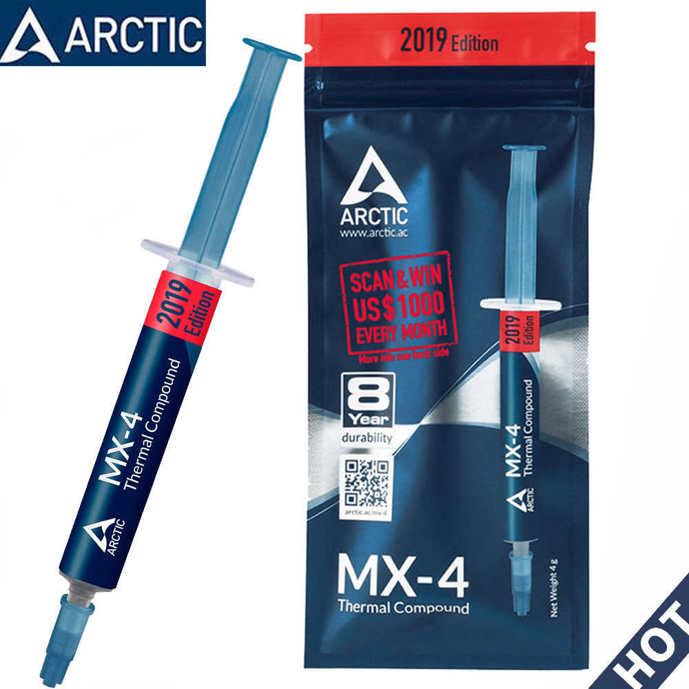 Ufficiale Originale New ARCTIC 2019 MX-4 4g 2g 8g 20g MX 4 CPU del dispositivo di Raffreddamento Ventola Di Raffreddamento thermal Compound Pasta Grasso Dissipatore di Calore GD900 - 1