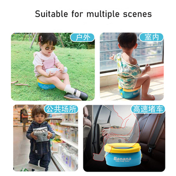 Portable Baby Toilet Foldaway Potty Children Vehicular Urinal With 20Pcs Urine Bags Kids Travel Toilet Seat Kids Outside Potty 2