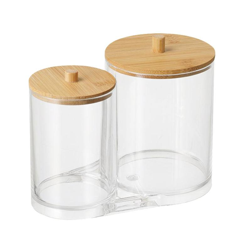 1PC Cotton Swab Dispenser Cotton Pads Holder Acrylic Cosmetics Container Makeup Storage Holder Home Storage Organization
