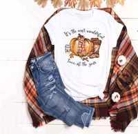 """Es ist Die Meisten Wunderbare Zeit der Jahr """"Herbst Kürbis Frauen T-shirts T Top Weibliche Festival Trendy Tops t Shirt Kleidung"""