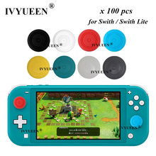 IVYUEEN-100 Uds. Para mando de Nintendo Switch, funda de silicona para Thumb Sticks, accesorios para NS Joy Con