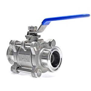 """Image 2 - 1/2"""" 3/4"""" 1"""" SS304 Stainless Steel SS316 Sanitary Ball Valve 3 Three Piece 1.5"""" 50.5mm Tri Clamp Ferrule Type For Homebrew Diary"""