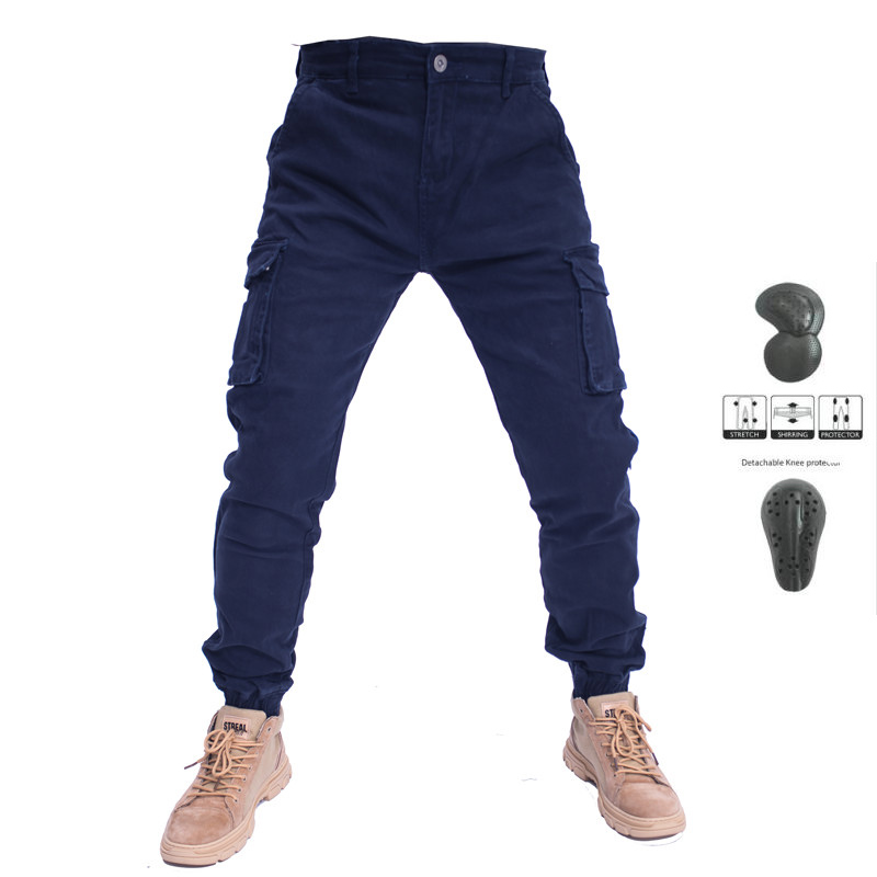 UBS06 No Komine Pants Motorcycle Spring And Autumn Overalls Men's Trousers Men's Straight Loose Beam With Protective Gear|Trousers| |  - title=