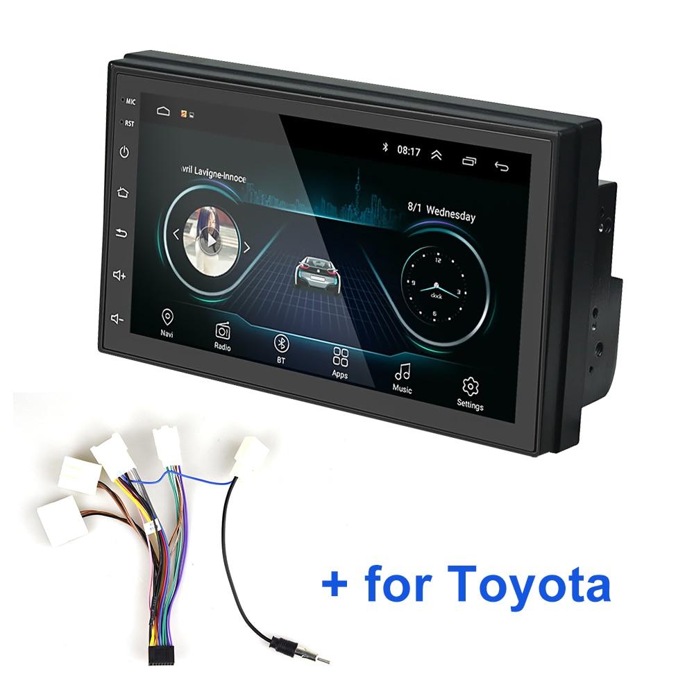 AMPrime 2din 7 ''Автомагнитола 2.5D Автомобильный мультимедийный плеер GPS Bluetooth MP5 Android 2 din автомобильный стерео для Volkswagen Nissan автомобильное радио
