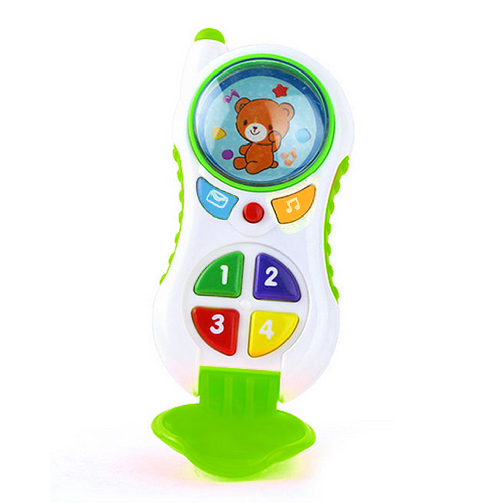 Creative Baby Kids Learning Study Musical Sound Kids Educational Mobile Phone Toys Mobile Kids Phones Learning Mobile Phone Toy image