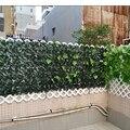 Искусственный забор из листьев, зеленый забор из листьев, декоративная лоза для заднего двора, искусственные листья винограда, Уличные деко...