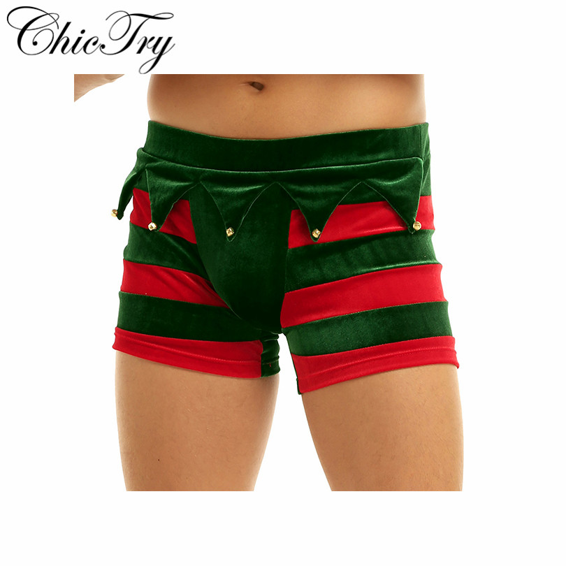 New Fashion Christmas Gift Men's Underwear Boxers Sexy Shorts Panties Tight Boy Male Boxer Shorts Men Sexy Xmas Mens Underpants