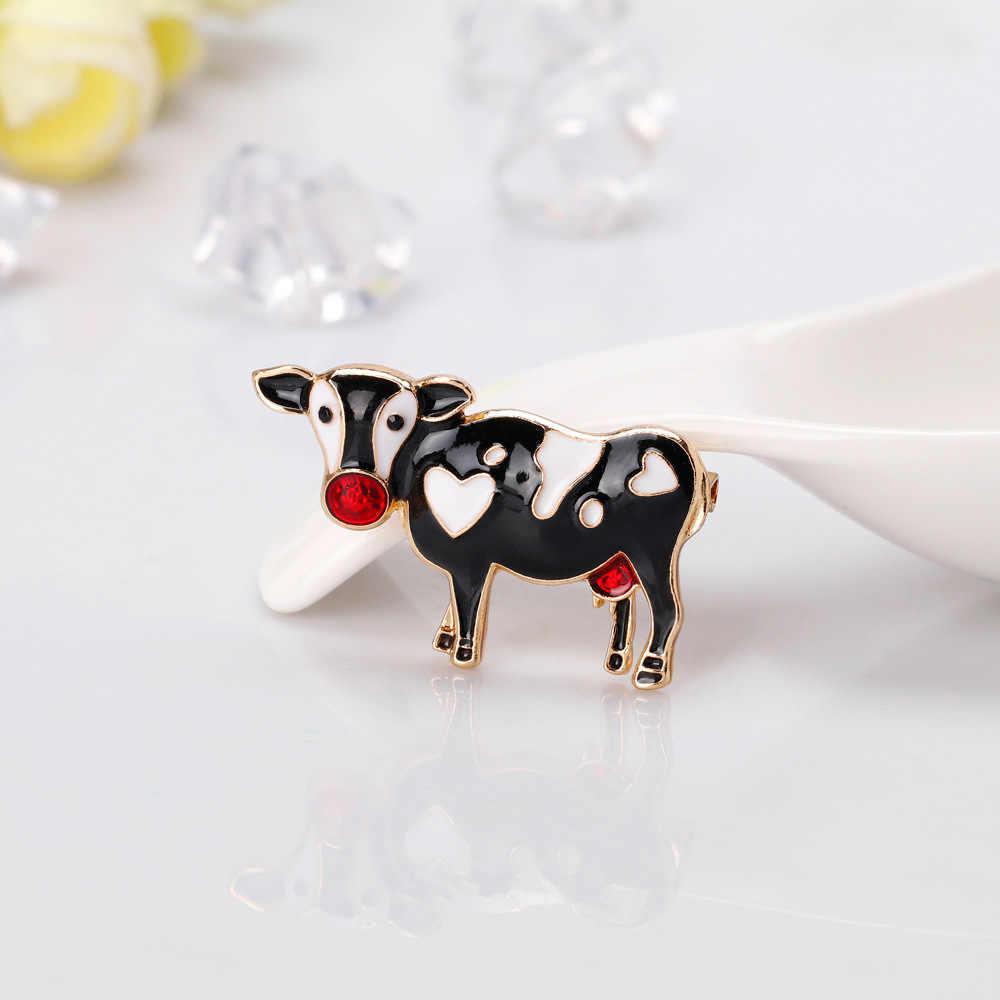 Nova Moda de Alta Qualidade Esmalte Pedrinhas Escorpião Animais Caracol Vaca Cavalo Galo Coelho Hedgehog Veado Broches Para As Mulheres