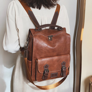 Image 5 - ريترو جلد المرأة على ظهره سستة مدرسة حقائب ظهر للمراهقين الفتيات حقيبة سعة كبيرة متعددة الوظائف Mochila الأنثوية XA227H