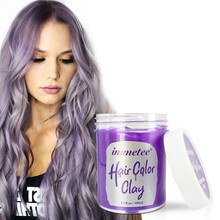 Hair Styling Clay Styling Pomade Silver Salon Purple Disposable Natural Hair Strong Gel Cream Hair Dye Unisex 100ml