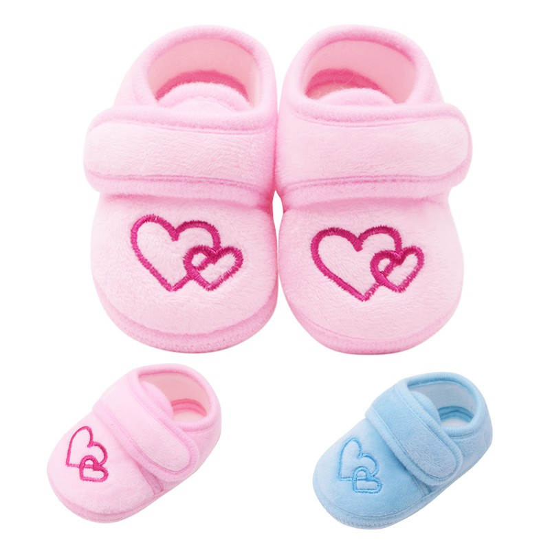 Baby Girls Princess Shoes Infant Toddler Crib Baby Kids First Walkers Cartoon Ball Cotton Soft Soled Anti-Slip Shoes