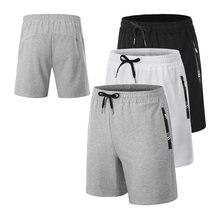 Мужские шорты для бега хлопковые спортивные до колена фитнеса