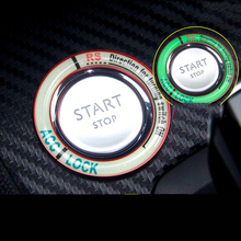 Lsrtw2017 Aluminum Alloy Car One-start Button Ring Trims for Peugeot 3008 5008 508L Luminous