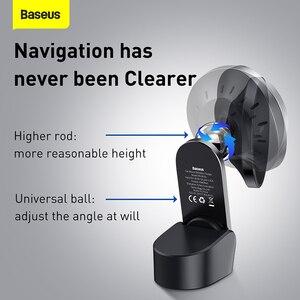 Image 2 - Baseus 15W supporto per auto caricabatterie Wireless centro di aspirazione magnetico cruscotto supporto uscita aria ricarica Wireless per iPhone serie 12