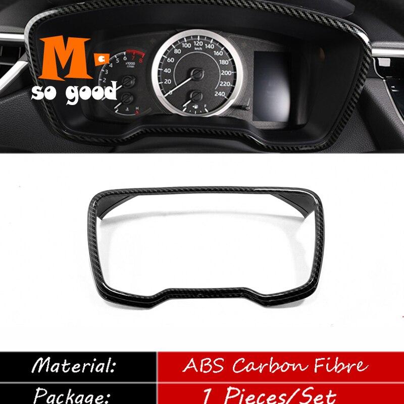 2019 2020 pour Toyota corolla voiture tableau de bord cadre décoration autocollants couverture garniture ABS mat/Fibre de carbone Auto accessoires de style