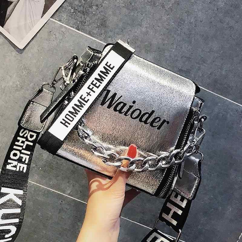 เลเซอร์ผู้หญิงไหล่กระเป๋าINSหญิงยอดนิยมกระเป๋าถือวันหยุดPU Messengerกระเป๋าสำหรับสุภาพสตรีออกแบบประณีตCrossbody