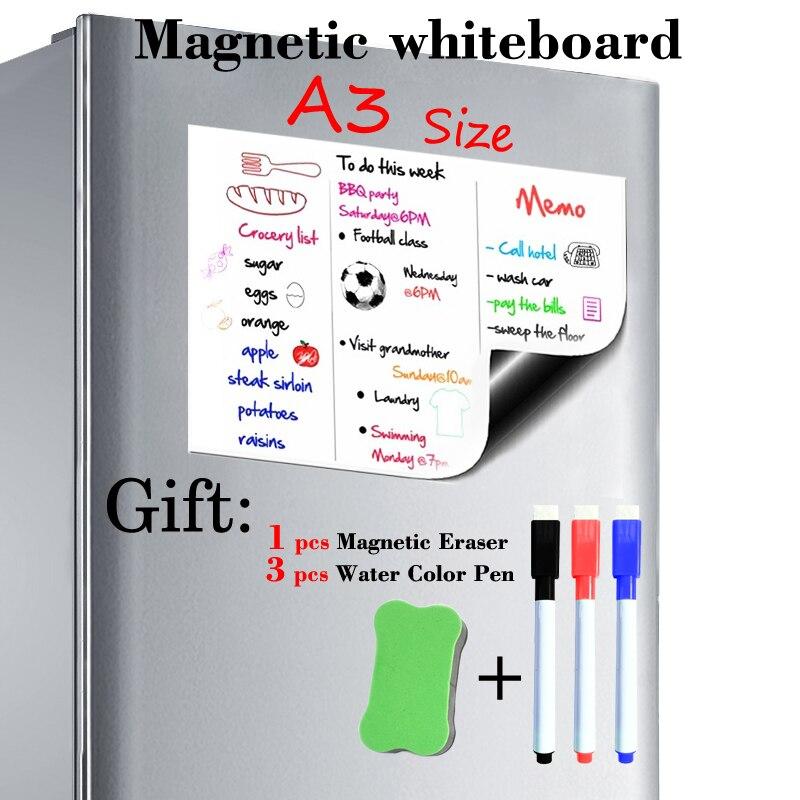 A3 Размер 297 мм x 420 мм Магнитная белая доска магниты на холодильник Презентация доски для дома кухни доски для сообщений написание магнитные Стикеры